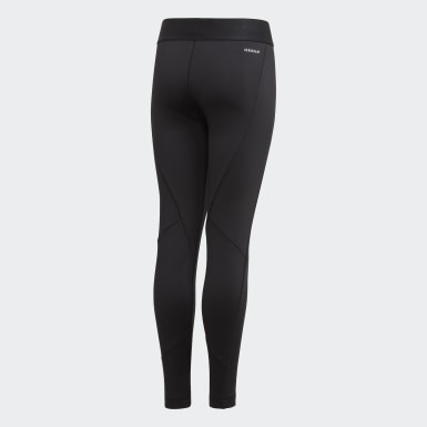 Meisjes Training Zwart Alphaskin Warm AEROREADY Warming Legging