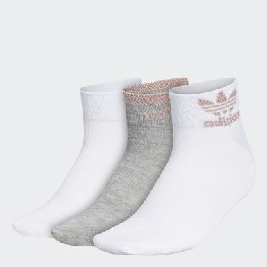 Women Originals Multicolor Trefoil Shine Low-Cut Socks 3 Pairs