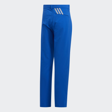 Youth Golf Blue Solid Golf Pants