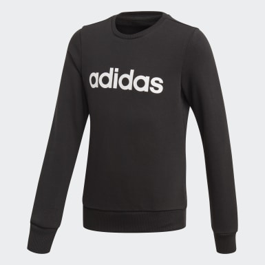 Girls Training Black Linear Sweatshirt