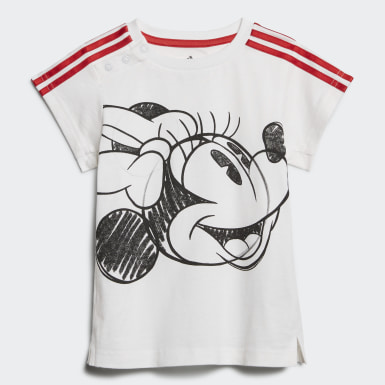 Completo Minnie Mouse Summer Bianco Ragazza Training