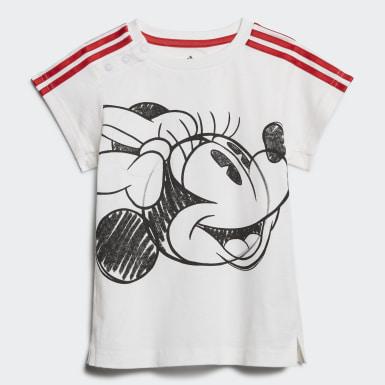 Mädchen Training Minnie Mouse Sommer-Set Weiß