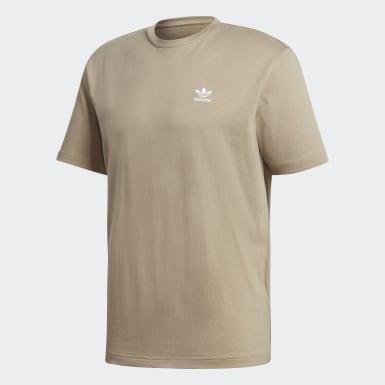Männer Originals Back + Front Print Trefoil Boxy T-Shirt Braun