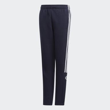 Boys Training Blue 3-Stripes Jogger Pants