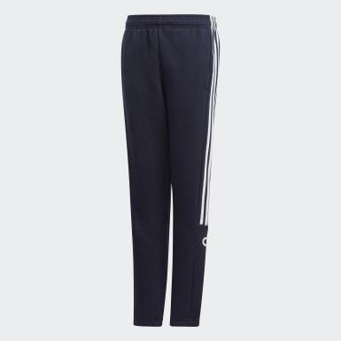 Pantaloni 3-Stripes Jogger Blu Ragazzo Training