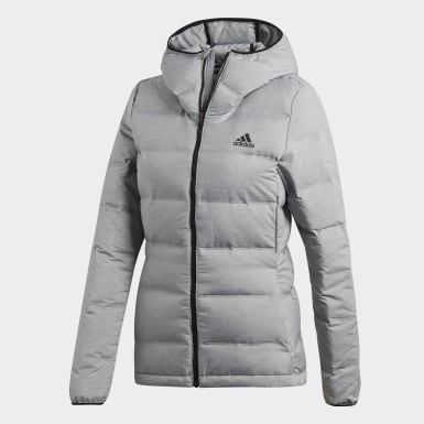 Women Urban Outdoor Grey Helionic Down Jacket