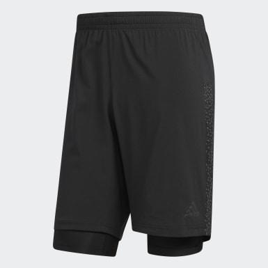 Men Running Black Supernova Dual Shorts