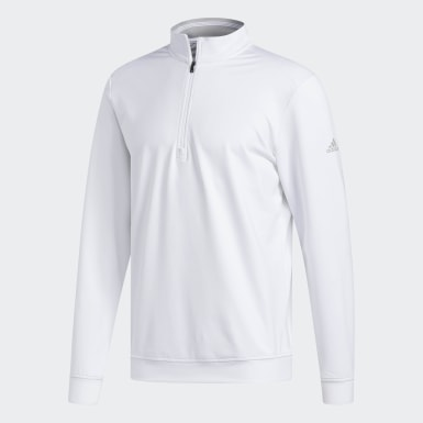 Men Golf White Classic Club 1/4 Zip Sweatshirt