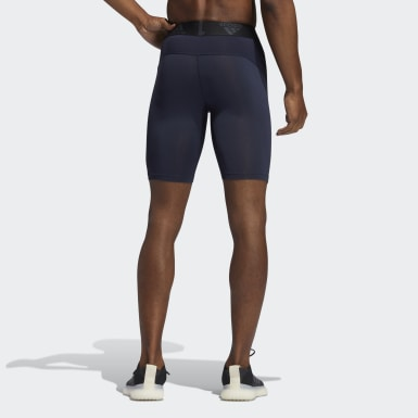 Men Cross Training Blue Techfit Short Tights