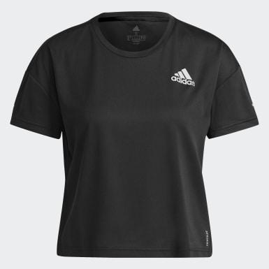 Frauen Running Fast Primeblue T-Shirt Schwarz