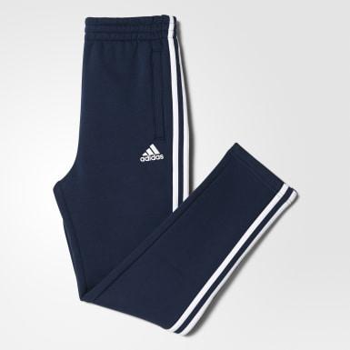 Essentials 3-Stripes Fleece bukser Blå