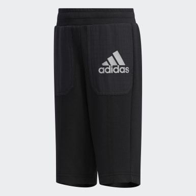 Shorts Malha Preto Meninos Training