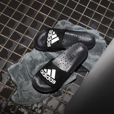 Zimní Sporty černá Pantofle Adilette Shower