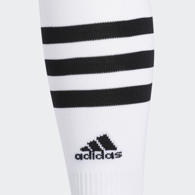 Training White 3-Stripes Hoop Socks