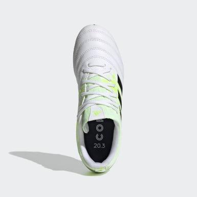 Zapatos de Fútbol Copa 20.3 Terreno Firme Blanco Niño Fútbol