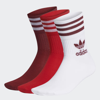 Originals White Mid Cut Crew Socks 3 Pairs