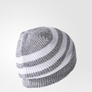 серый Шапка-бини 3-Stripes
