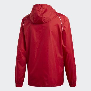 Mænd Træning Rød Core 18 regnjakke