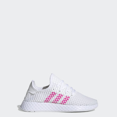 Youth Originals White Deerupt Runner Shoes