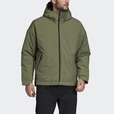Men's Lifestyle Green Outerior Insulated Winter Jacket