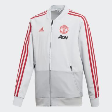 Casaco de Apresentação do Manchester United Cinzento Criança Futebol