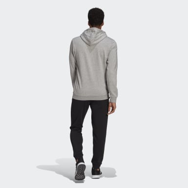Survêtement AEROREADY Essentials Kangaroo Pocket Big Logo Gris Hommes Athletics