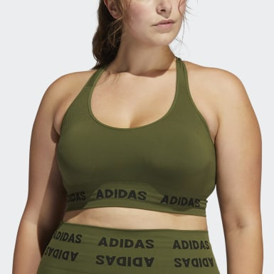 Women's Yoga Green Training Aeroknit Bra (Plus Size)