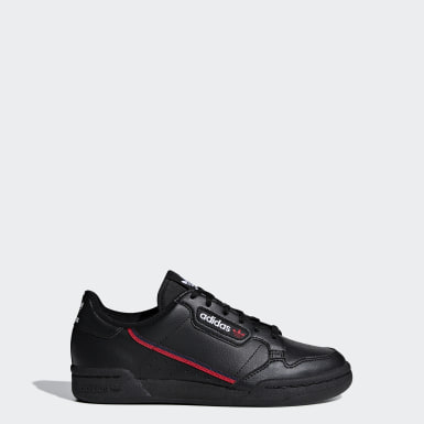 Youth 8-16 Years Originals Black Continental 80 Shoes