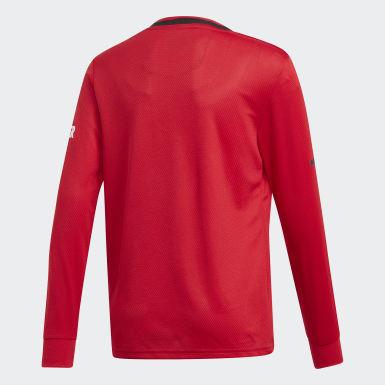 Maillot Manchester United Domicile Rouge Garçons Football