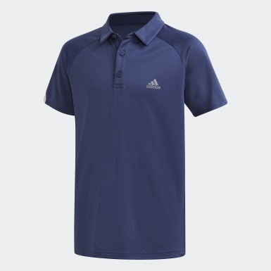 Youth 8-16 Years Tennis Blue Club Polo Shirt