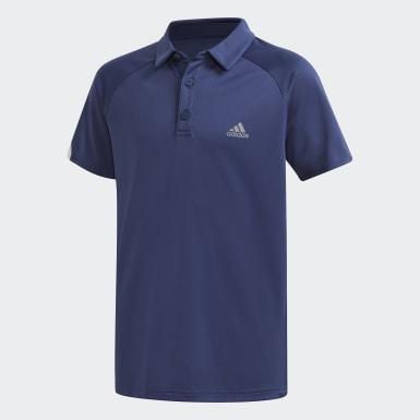 Jongens Tennis Blauw Club Poloshirt