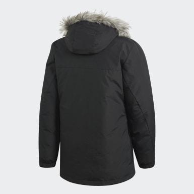Heren City Outdoor Zwart Faux Fur Gewatteerd Jack