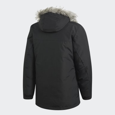 Veste Faux Fur Padded Noir Hommes City Outdoor