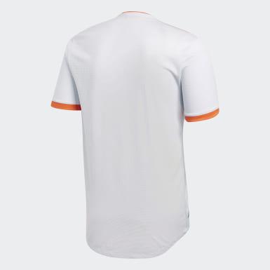 Mænd Fodbold Hvid Spain Authentic udebanetrøje