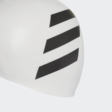Bonnet 3-Stripes Blanc Natation