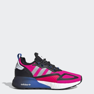 Women's Originals Pink ZX 2K Boost Shoes