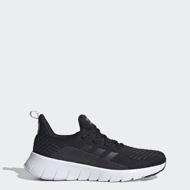 Women Running Black Asweego Shoes