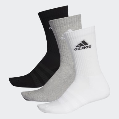 Training Grey Cushioned Crew Socks 3 Pairs