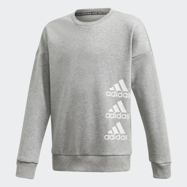 Mädchen Training Must Haves Sweatshirt Grau