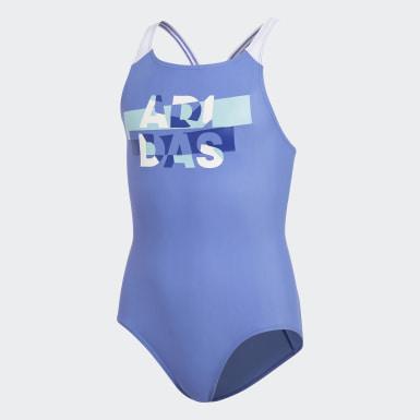синий Слитный купальник Lineage Logo