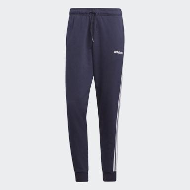 Calças Afuniladas 3-Stripes Essentials Azul Homem Athletics