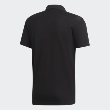 Men Football Black Tiro 19 Cotton Polo Shirt