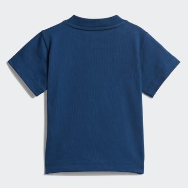 T-shirt Trefoil Blu Ragazzo Originals