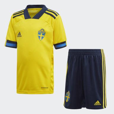 Děti Fotbal žlutá Domácí souprava Sweden Mini
