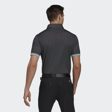 Men's Golf Black Equipment Two-Tone Mesh Polo Shirt