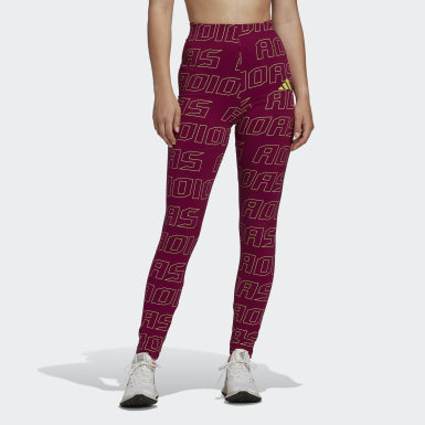 Mallas Graphic Burgundy Mujer Athletics