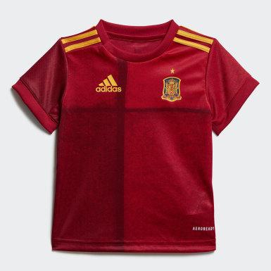 Deti Futbal červená Súprava Spain Home Baby