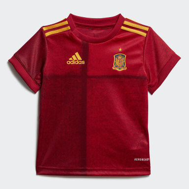 Toddlers 1-4 Years Football Red Spain Home Baby Kit