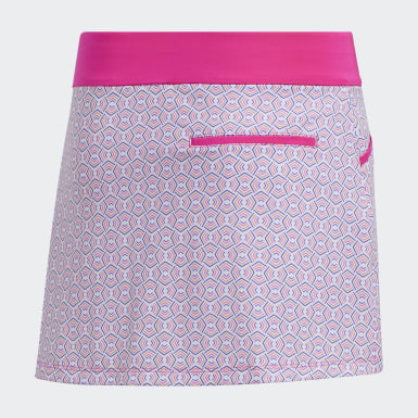 Youth Golf Pink Printed Skort