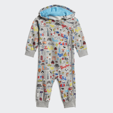 Kids Training Grey Cleofus Onesie